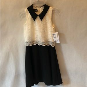 NWT Ivory/Licorice Lace Dress Size 12
